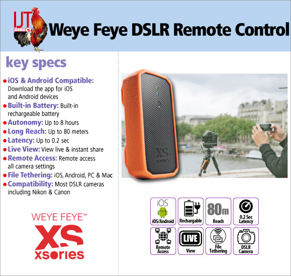 XSories Weye Feye Wireless Wi-Fi Remote Control & Tether System for Canon, Nikon and other  DSLR Cameras for £49.95