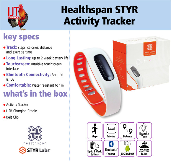 Healthspan STYR Fitness & Activity Tracker for iOS & Android devices for £14.95