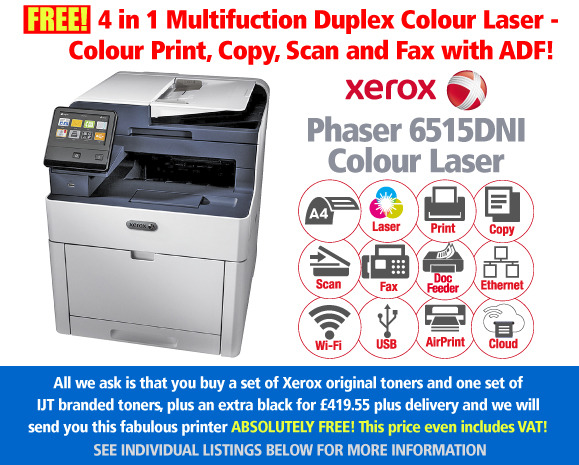 Xerox Phaser 6515DNI Printer Deal: With 2 Sets of Toners + Extra Black