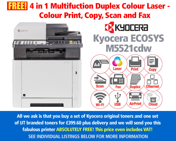 Kyocera Ecosys M5521CDW Printer Deal: With 2 Sets of Toners