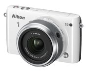 Nikon 1 S2 Compact System Camera with 11-27.5mm Lens Kit - White (14.2MP) 3.0 inch LCD